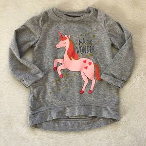 Carters Unicorn Long Sleeve Top 12 Month